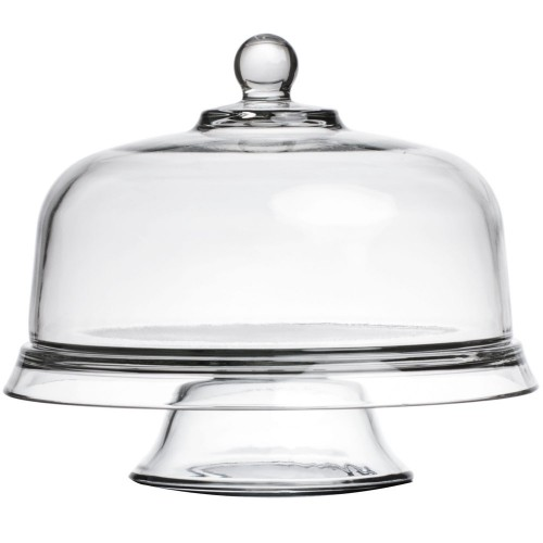 glazen kom punch bowl dome plateau met voet 4 in 1 anchor hocking