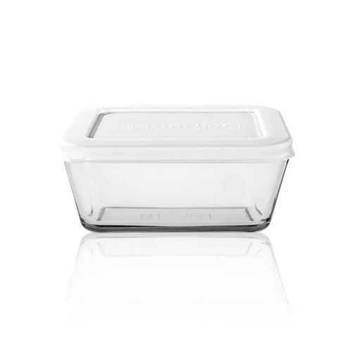Rechthoekige vershouddoos van glas   kitchen storage   1,4 l