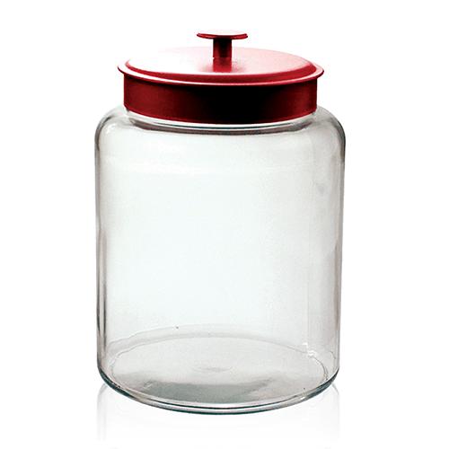 Grote Glazen Voorraadpot.Voorraadpot Glas Montana Rood 10 L