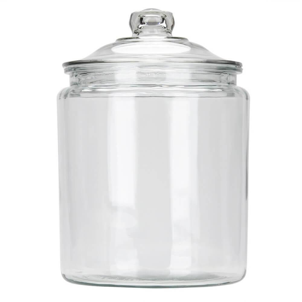 Grote Glazen Voorraadpot.Glazen Voorraadpot Heritage 8 L