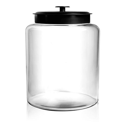 Grote Glazen Voorraadpot.Voorraadpot Glas Montana Zwart 10 L