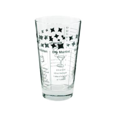 mixglas met recepten voor cocktails