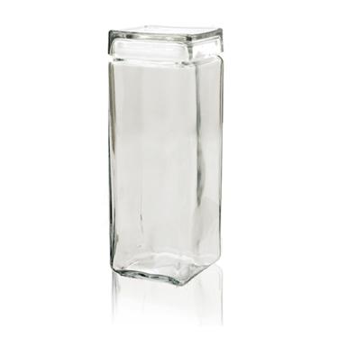 Voorraadpot glas stapelbaar