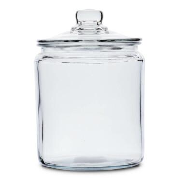 Glazen voorraadpot met glazen deksel 2 liter