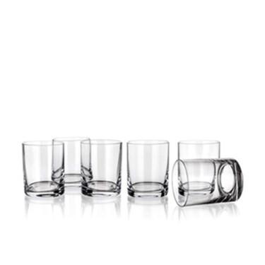 Whisky glazen 320 ml kristalglas helder set van 6