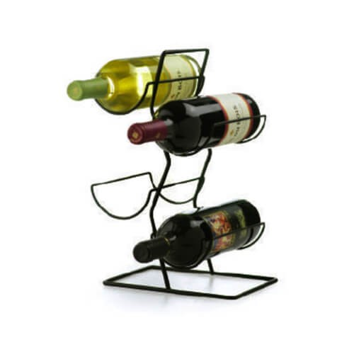 Metalen wijnrek voor 4 flessen