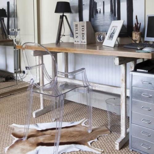 Spirit eetkamerstoelen transparant 4 delig ghost chair
