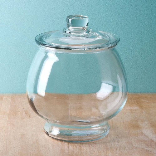 Glazen snoeppot 4 liter met glazen deksel - Deksel x ...