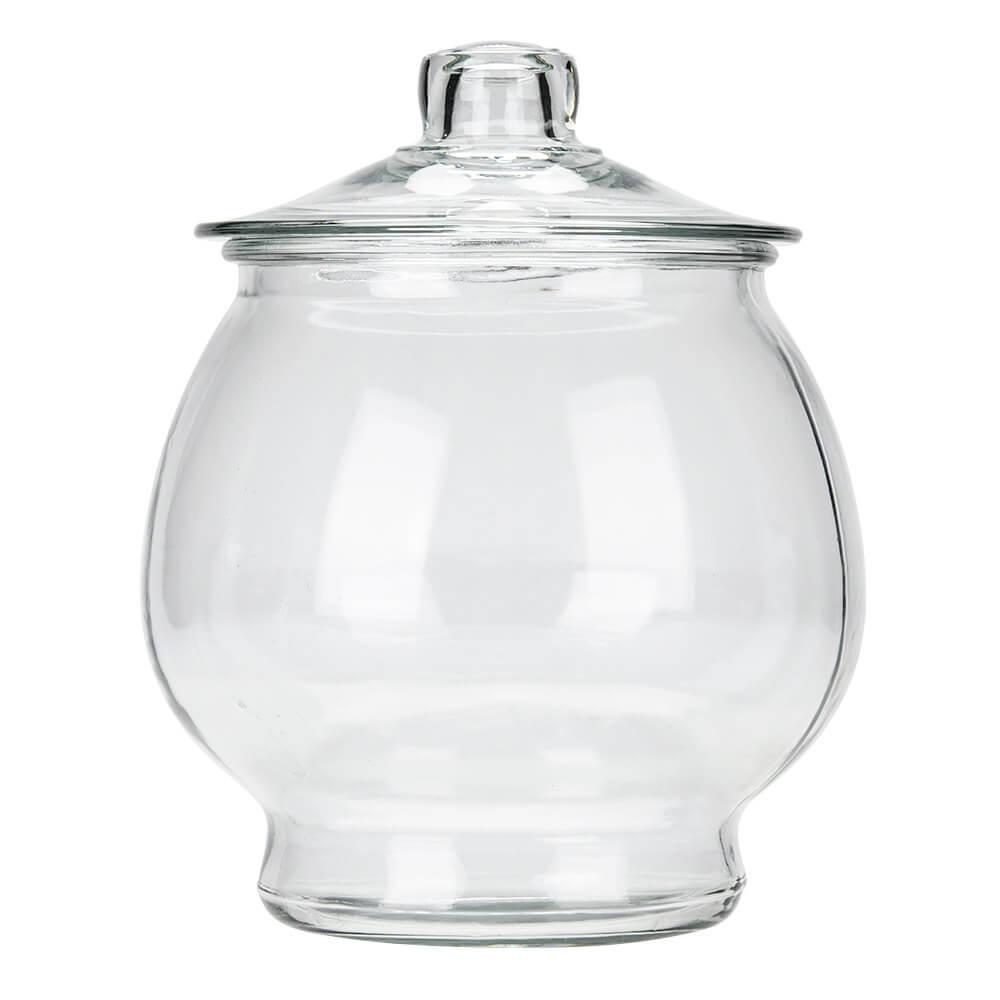 glazen snoeppot 4 liter met glazen deksel anchor hocking