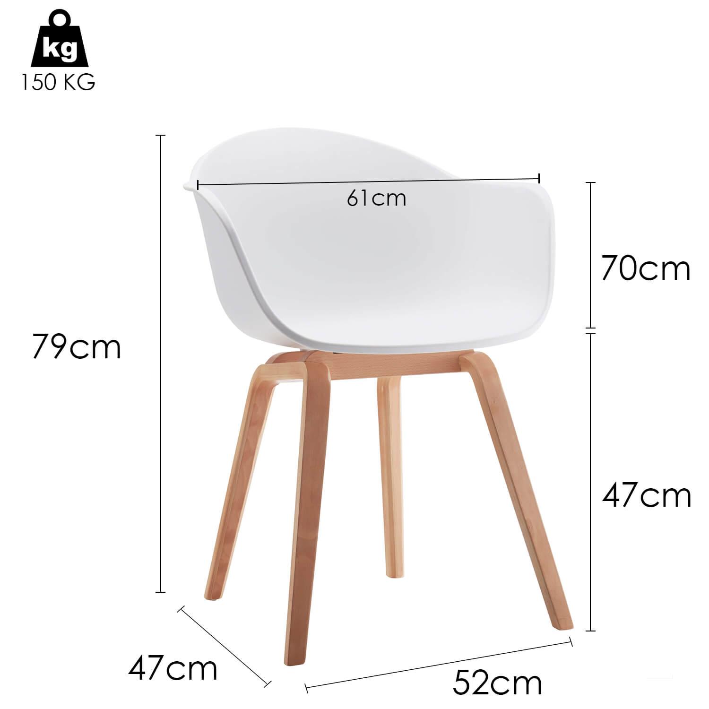 6 Witte Design Stoelen.Romeo Eetkamerstoelen Wit Set Van 2 Voor Binnen En Buitengebruik