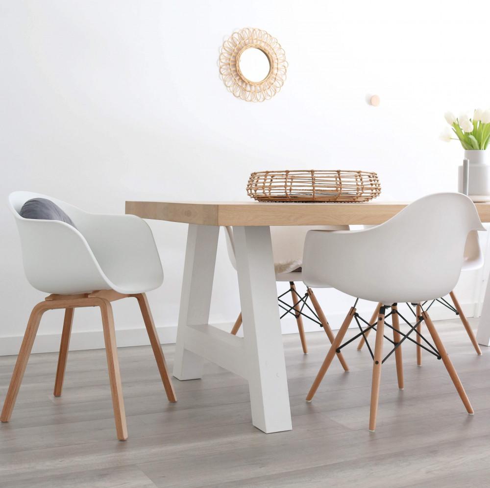 witte eetstoelen amazing laforma set stoelen scudo witte