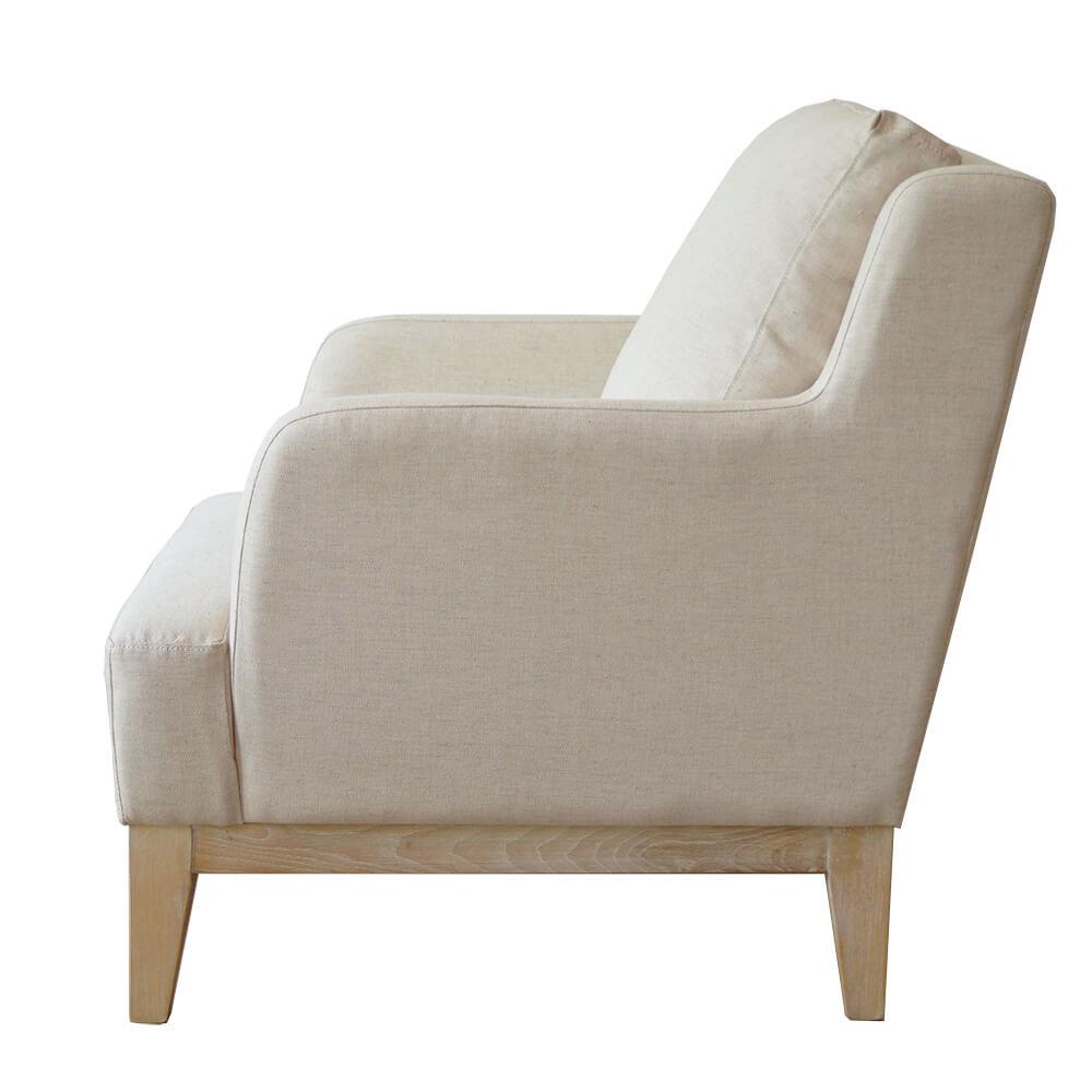 monaco klassieke fauteuil beige katoen linnen damiware. Black Bedroom Furniture Sets. Home Design Ideas