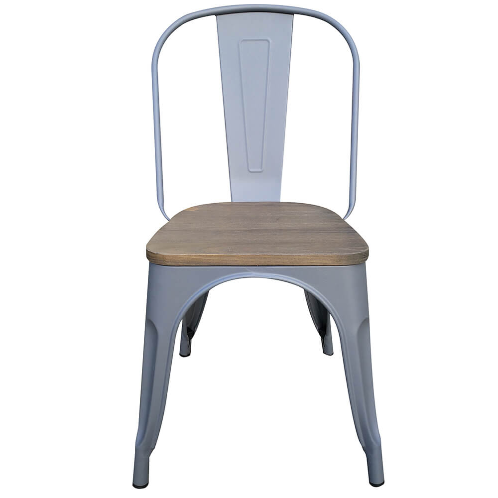 Latest victor stoelen metaal met houten zitting donker for Kuipstoel voor buiten