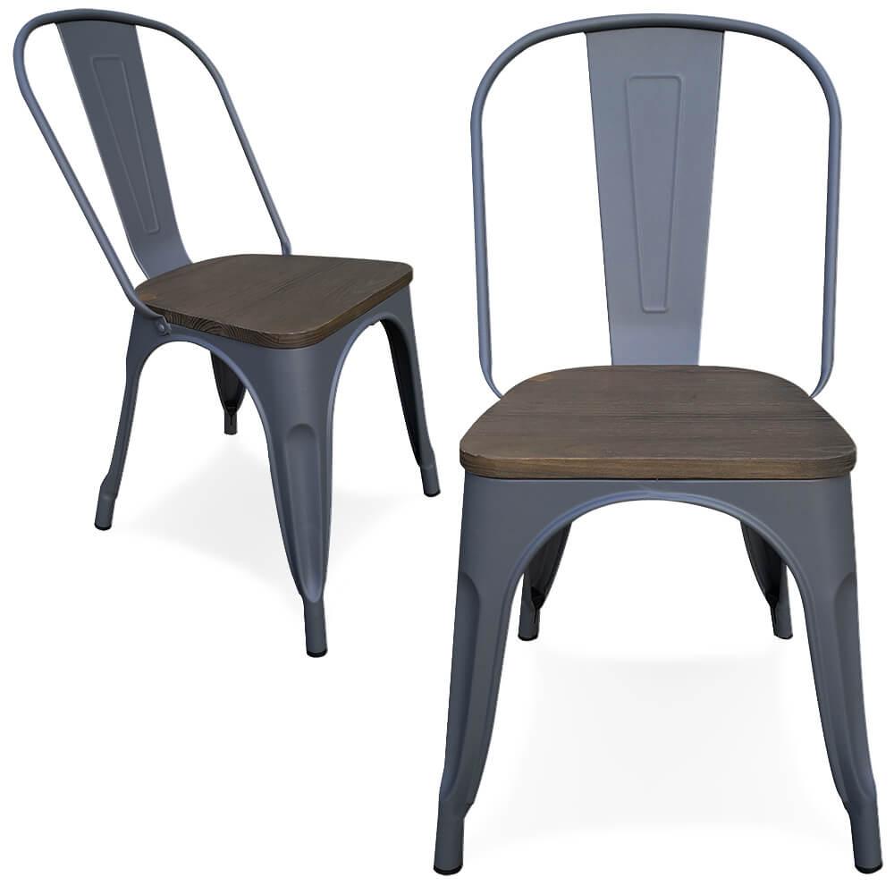 Fabulous victor stoel grijs metaal zitting kan buiten for Kuipstoel voor buiten