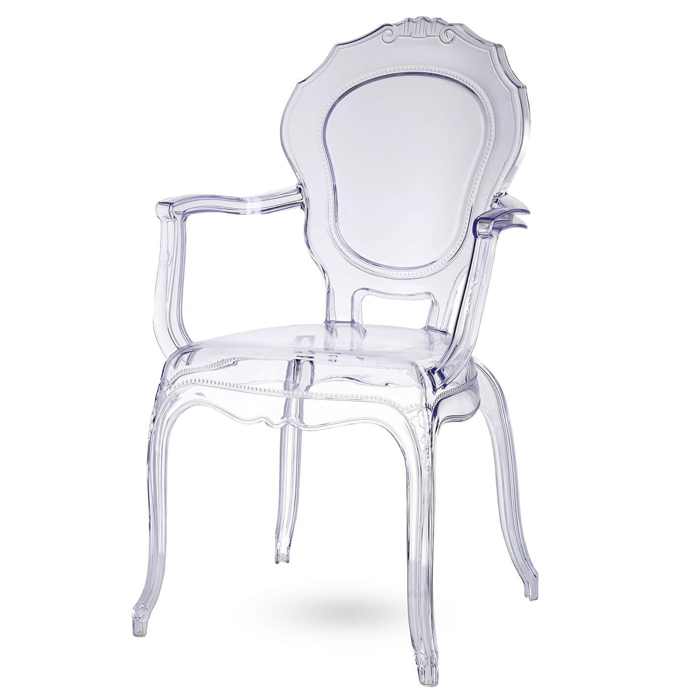 Super Broxster stoel Kristal - Kristalhelder materiaal | Brocante stoel UC-35