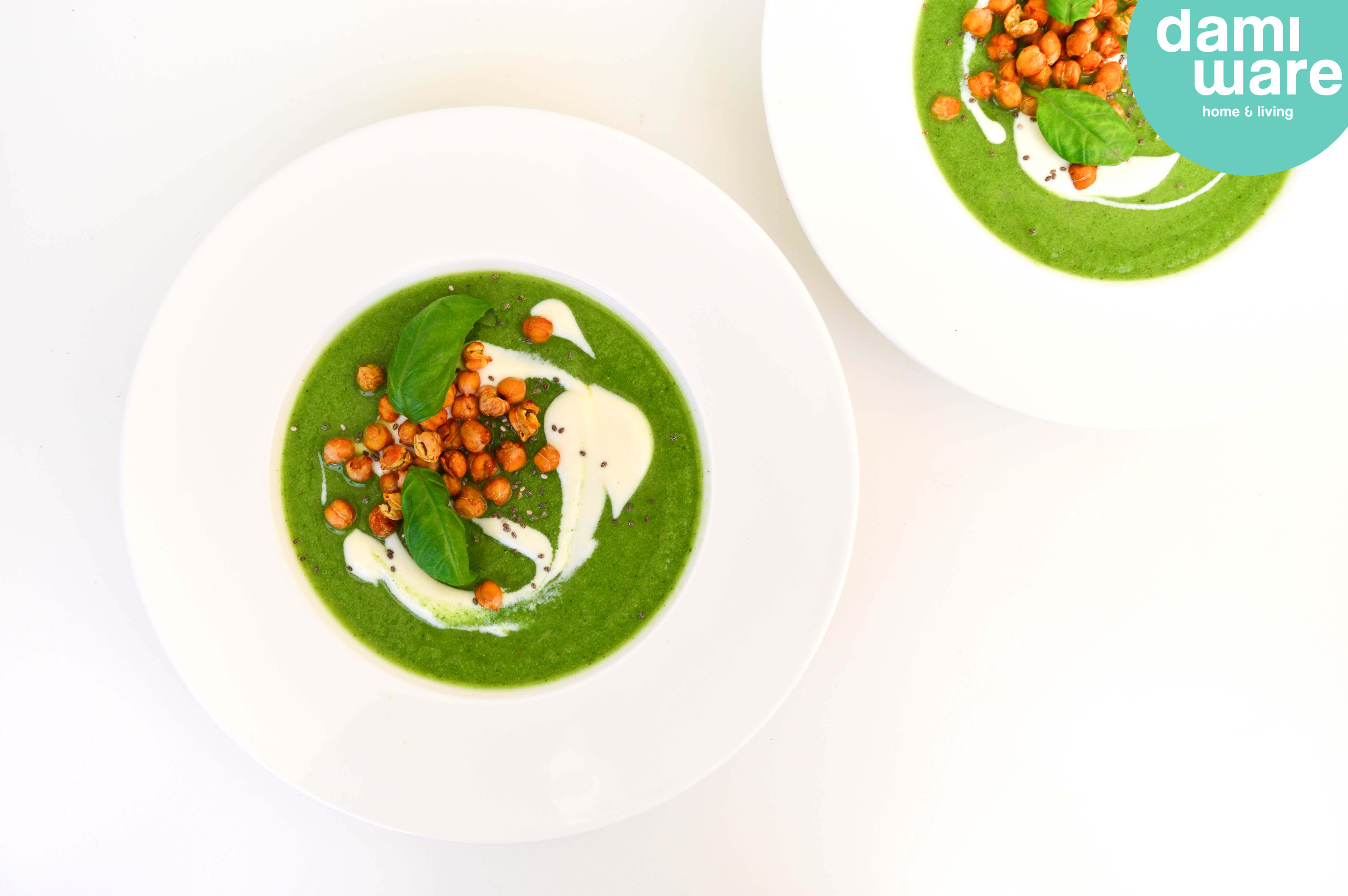 Broccoli Courgette Soep Logo Recept Geroosterde Kikkererwten De Groene