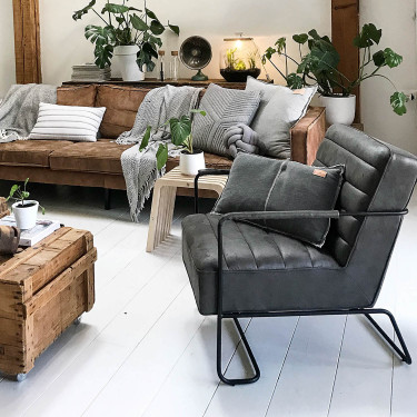 James fauteuil Stone Woonkamer, Industrieel interieur
