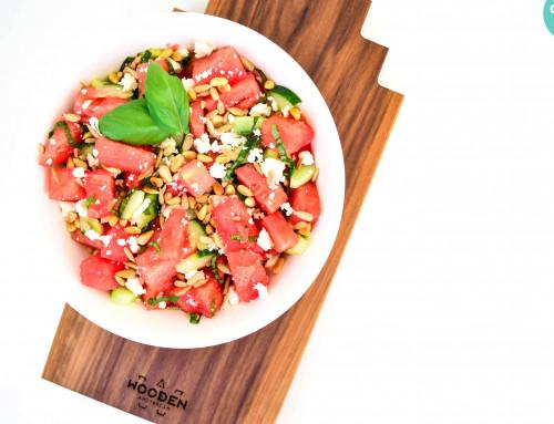 RECEPT: Watermeloen feta salade