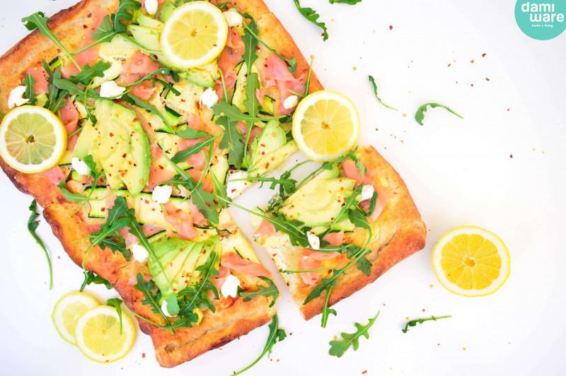 Avocado Zalm Pizza