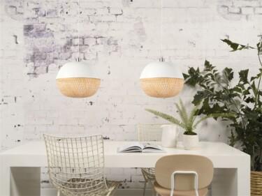 hanglamp mekong, bamboe, bol, eettafel