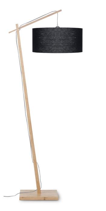 vloerlamp bamboe en linnen, GOOD&MOJO, 8 kleuren