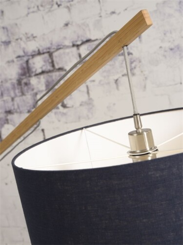 vloer lamp good mojo montblanc bamboe linnen hangsysteem foto damiware webshop