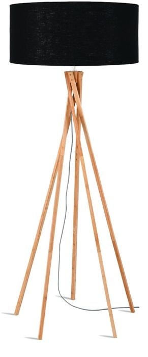 vloerlamp good mojo staande lamp bamboe kilimanjaro zwart linnen productfoto damiware