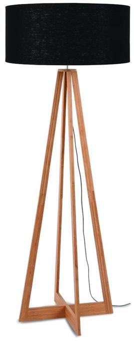 vloer lamp good mojo staande lamp bamboe linnen product foto damiware